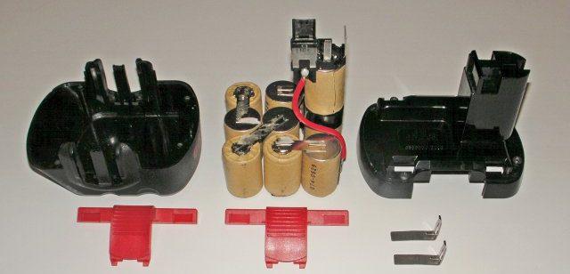 разобранный аккумулятор шуруповёрта