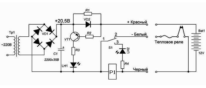 схема аккумулятора шуруповёрта