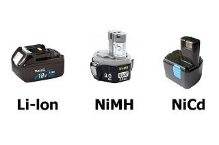 виды аккумуляторных батарей шуруповёрта