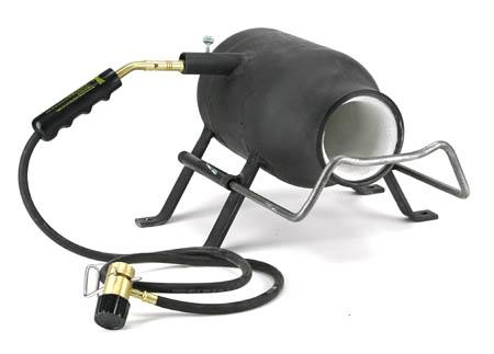 Горн с самодельной газовой горелкой