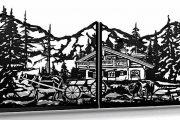 Эскиз фрагмента входных ворот с калиткой