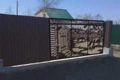 Ворота, вырезанные при помощи плазменной резки