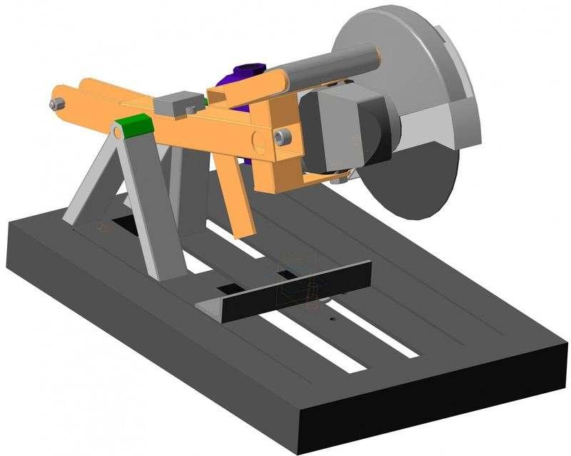 3D-модель (чертеж) самодельного торцовочного станка