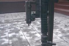Станок из рулевой рейки с клиноременной передачей