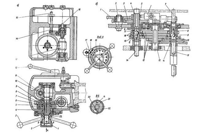 Устройство коробки скоростей сверлильного станка 2А135
