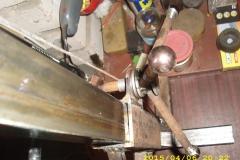 Вид сверху на барабанный механизм